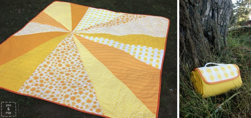 Tutorial Sunburst Picnic Blanket You And Mie Mesmerizing Picnic Blanket Pattern