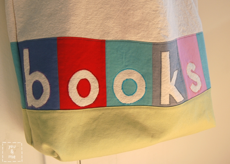 Library Book Bag with Reverse Applique | you and mie