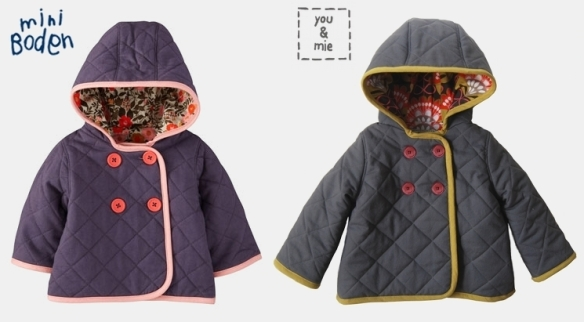Knock it off you and mie for Boden quilted jacket