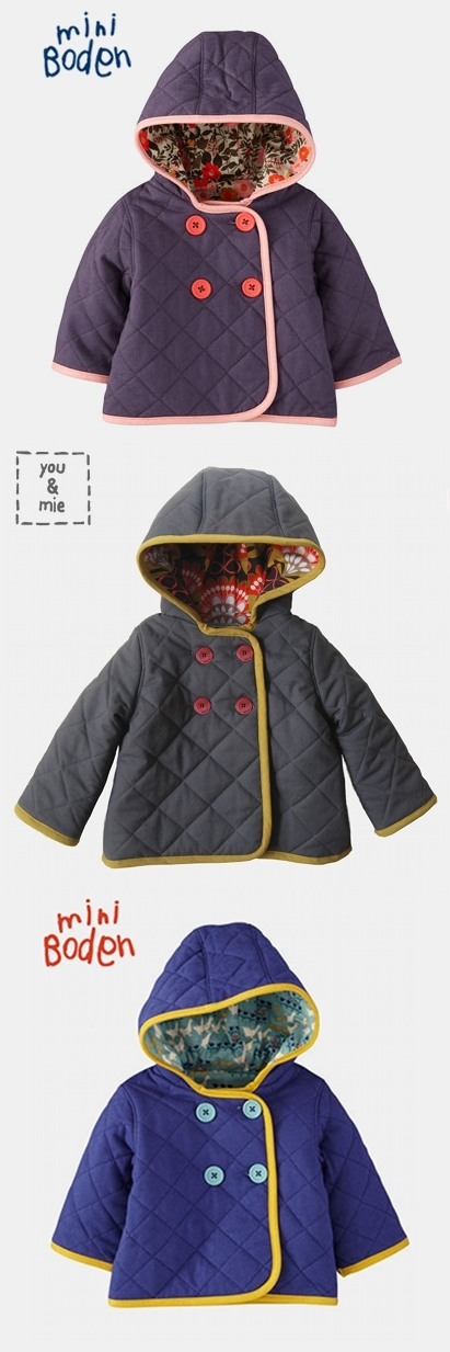 Quilted jacket mini boden knock off you and mie for Boden quilted jacket