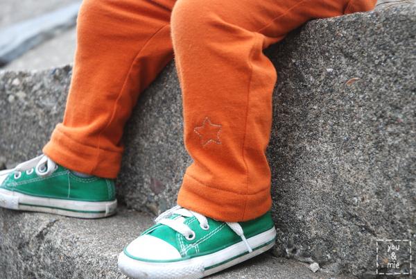 orange skinnies