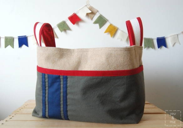 Camp Ivanhoe inspired Divided Basket by you & mie