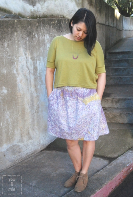 Everyday Skirt in Nani Iro Birds Eye by you & mie