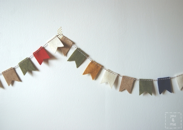 Felt Flag Garland by you & mie