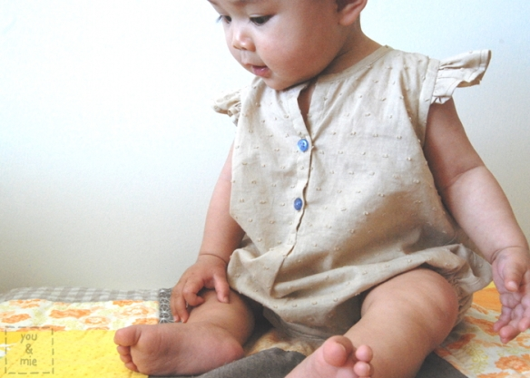 Oliver + S Lullaby Layette Summer Bodysuit // by you & mie