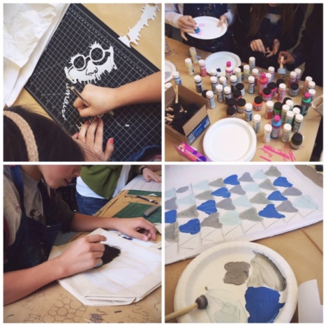 stenciling workshop // you & mie