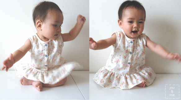 Floral Lullaby Layette Dress by you & mie
