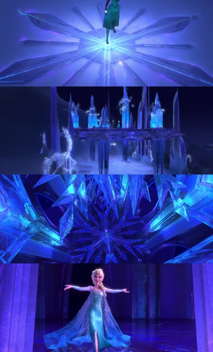 Let it Go - ice castle scenes