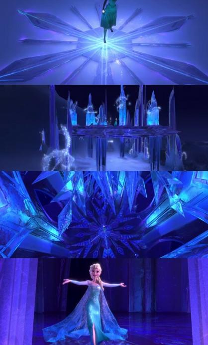 Let it Go - ice castle scenes