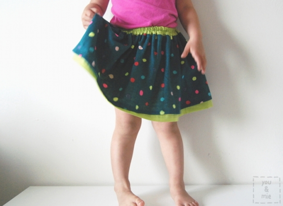 Neon Dot Skirt by you & mie