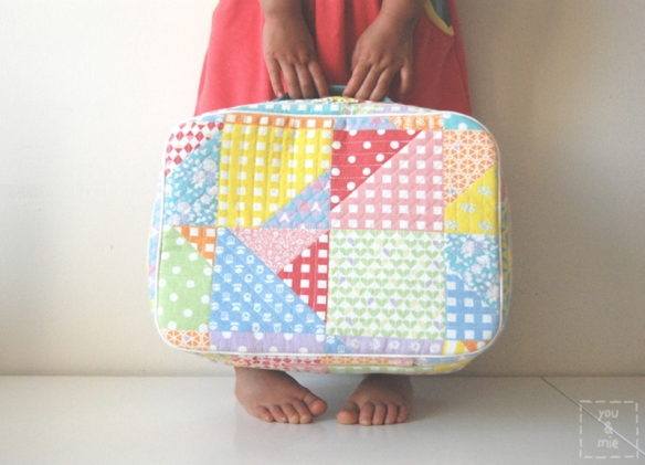 Mini Mini Spring Patch Suitcase // you & mie