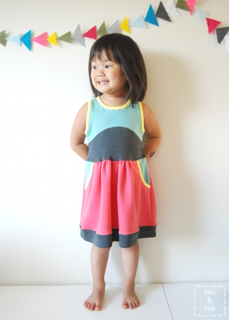 Color Blocked Soleil Dress // you & mie