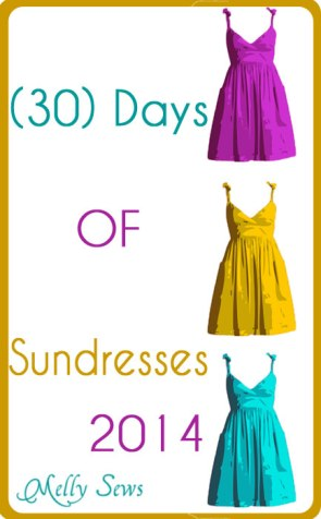 30 Days of Sundresses Button // Melly Sews