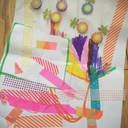 washi tape collage by yuki