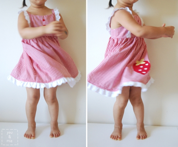 Strawberry Edelweiss Dress // you & mie