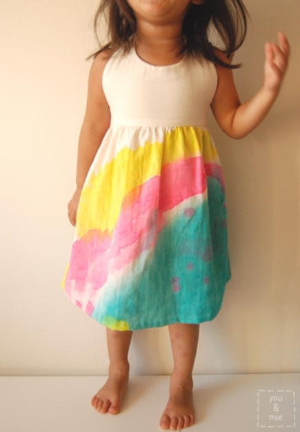Watercolor Sundress and Tips for Painting Fabric // you & mie