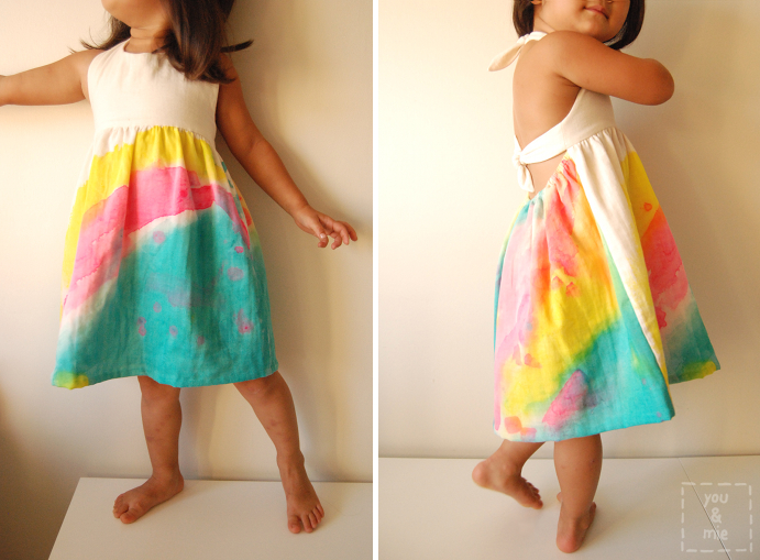 Watercolor Dress And Tips For Painting Fabric You And Mie