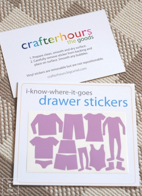 I-know-where-it-goes drawer stickers // you &mie