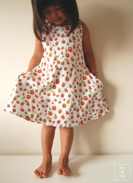 Strawberry Skater Dresses by you & mie