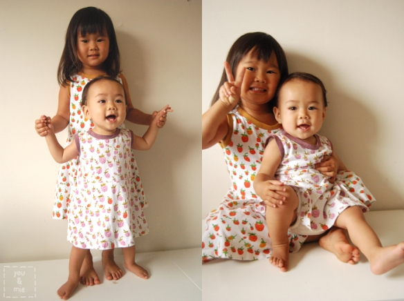 Strawberry Skater Dresses by you & mie