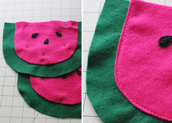 Watermelon Pouch Tutorial and Free Pattern by you & mie