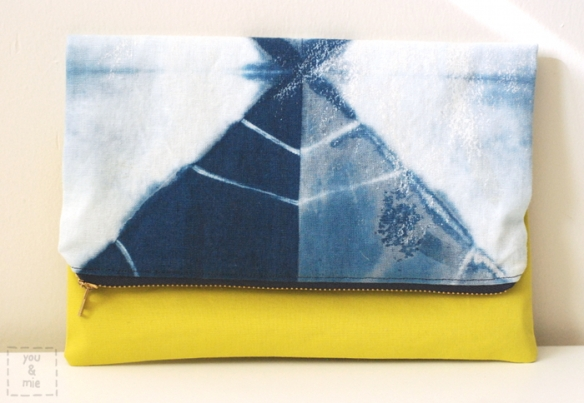 Shibori Clutch // you & mie