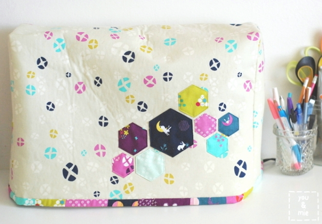 Cotton + Steel Mochi Sewing Machine Cover by you & mie