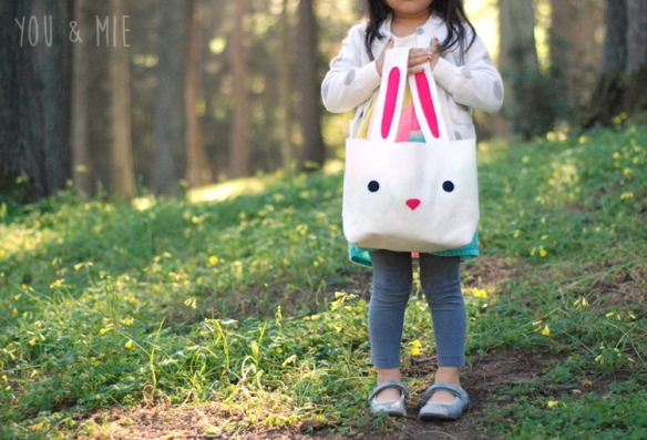 Felt Bunny Basket by you & mie