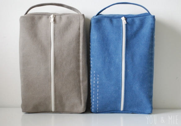 Dopp Kits in Canvas by you & mie
