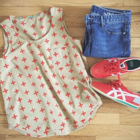 Wiksten Tank in Handcrafted Fabric plus new kicks!  // you & mie