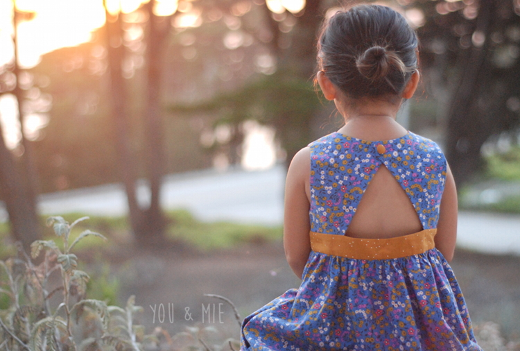 Clothesline Floral Triangle Back Dress by you & mie